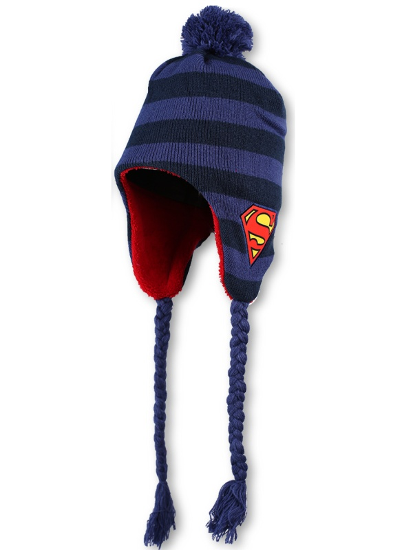 Dětská chlapecká zimní čepice Setino 771-345 Superman tmavě modrá, vel. 56