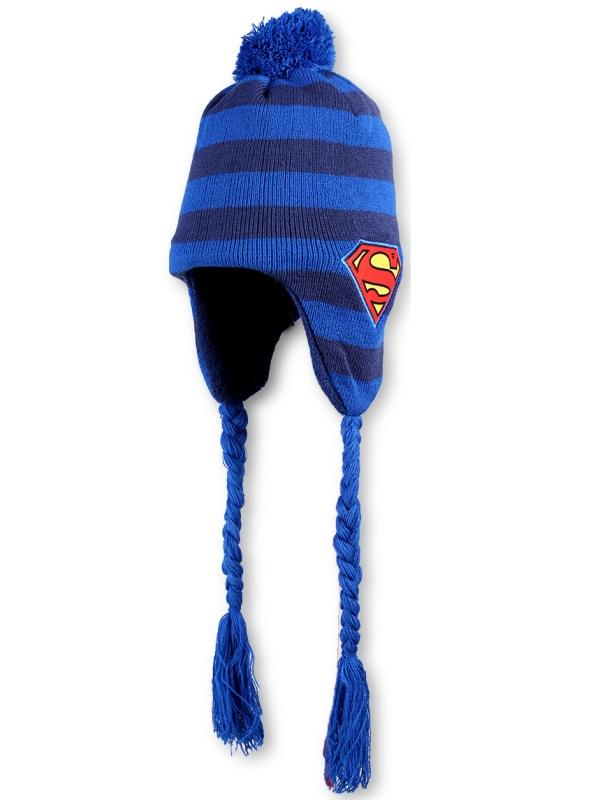 Dětská chlapecká zimní čepice Setino 771-345 Superman světle modrá, vel. 56