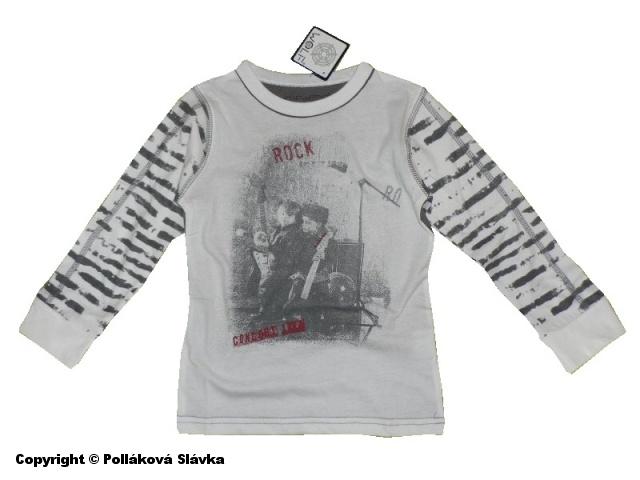 Dětské chllapecké triko dlouhý rukáv Wolf S2333 bílé, vel. 104