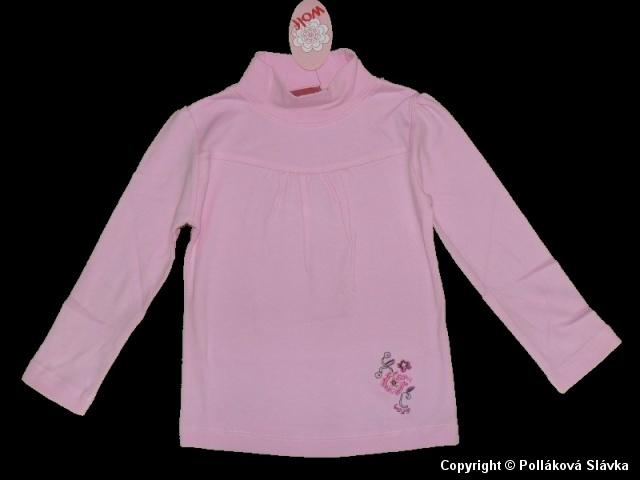 Dětské dívčí triko dlouhý rukáv Wolf S2267 růžové, vel. 104