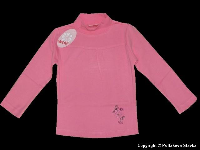 Dětské dívčí triko dlouhý rukáv Wolf S2267 lososové, vel. 98