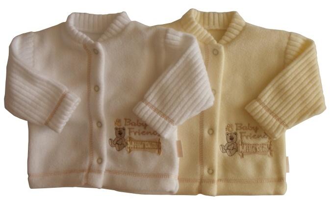 Kojenecký fleecový kabátek Im Golem H03 smetanový, vel. 80