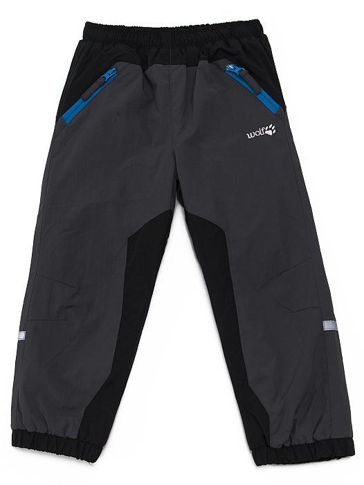 Dětské zateplené šusťákové kalhoty Wolf B2671 Šedé, vel. 92