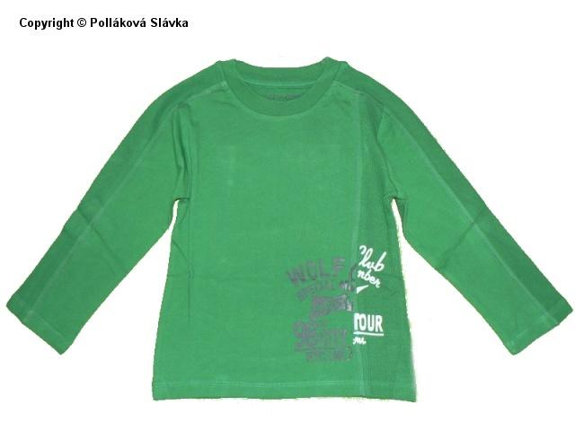 Dětské chlapecké triko dlouhý rukáv Wolf S2234 zelené, vel. 128