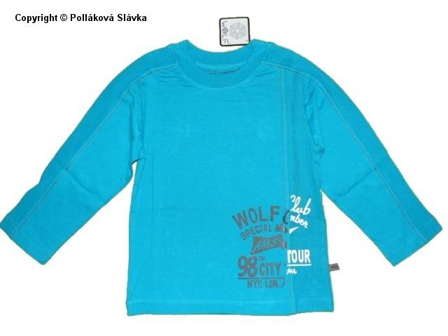 Dětské chlapecké triko dlouhý rukáv Wolf S2234 modré, vel. 116