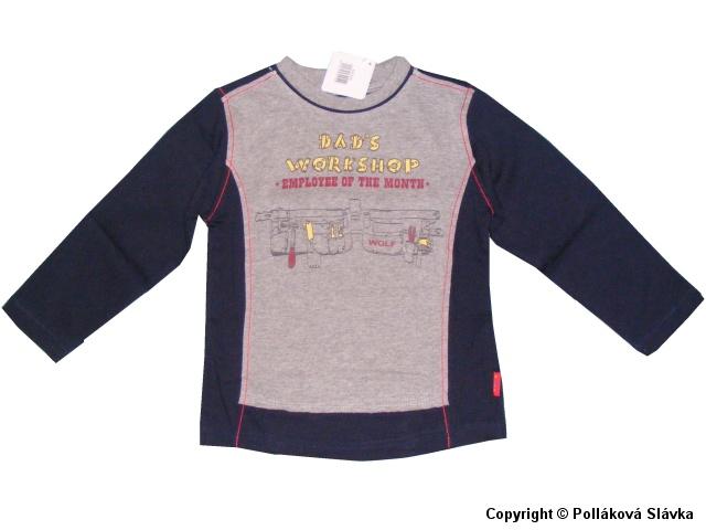Dětské chlapecké triko dlouhý rukáv Wolf S2232 modré, vel. 116
