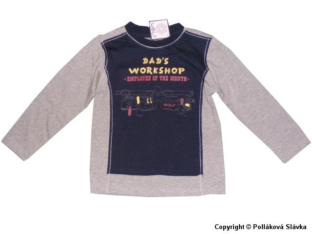 Dětské chlapecké triko dlouhý rukáv Wolf S2232 šedé, vel. 104