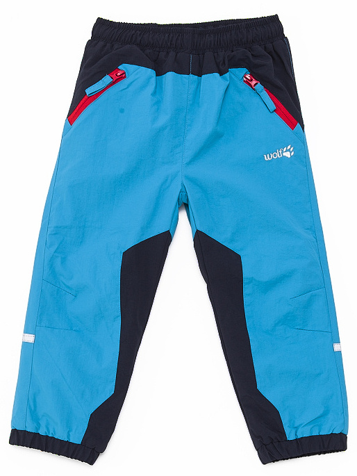 Dětské zateplené šusťákové kalhoty Wolf B2671 Modré, vel. 86