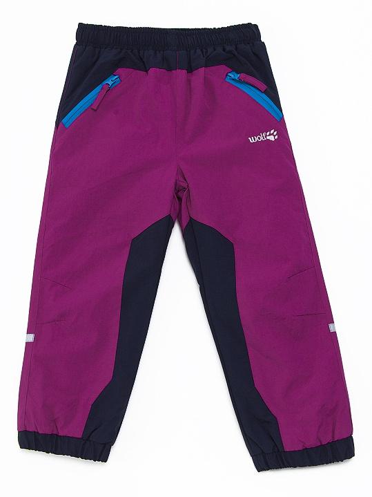 Dětské zateplené šusťákové kalhoty Wolf B2671 Fialové, vel. 86