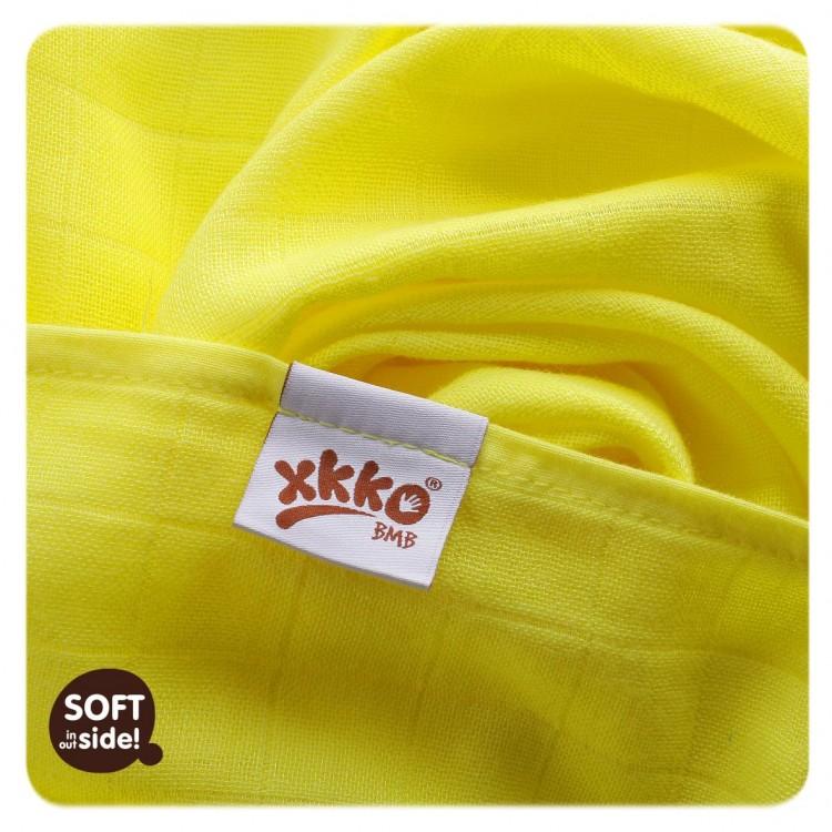 Bambusové pleny KIKKO®BMB Colours 70x70cm 3ks žluté