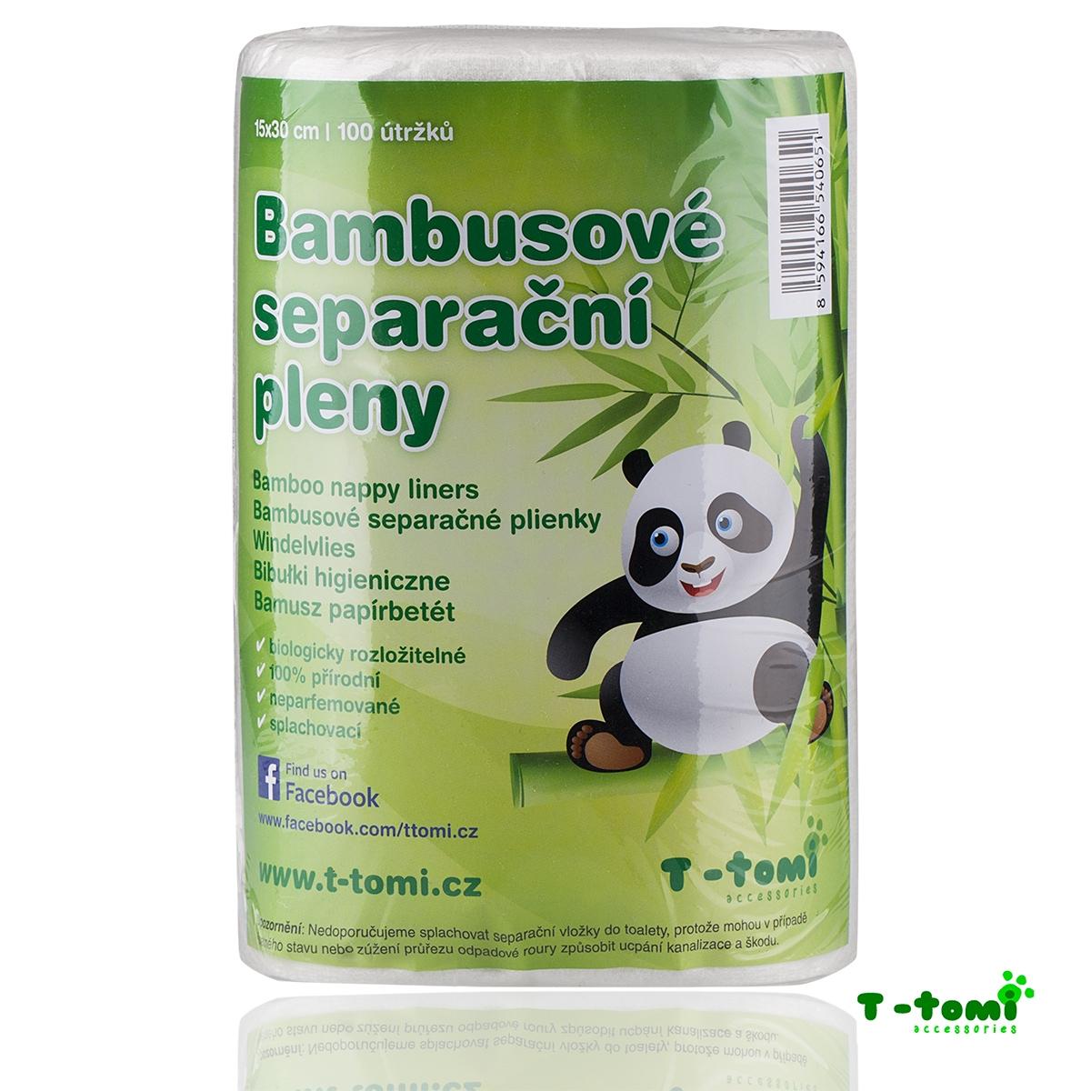 Bambusové separační pleny T-tomi 100 ks