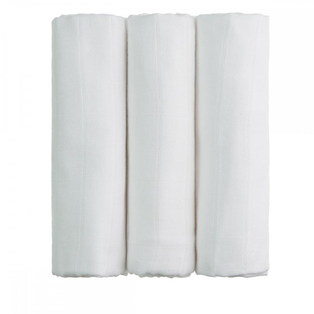 T-tomi BIO Bambusové pleny 70x70 cm 3 ks, bílé