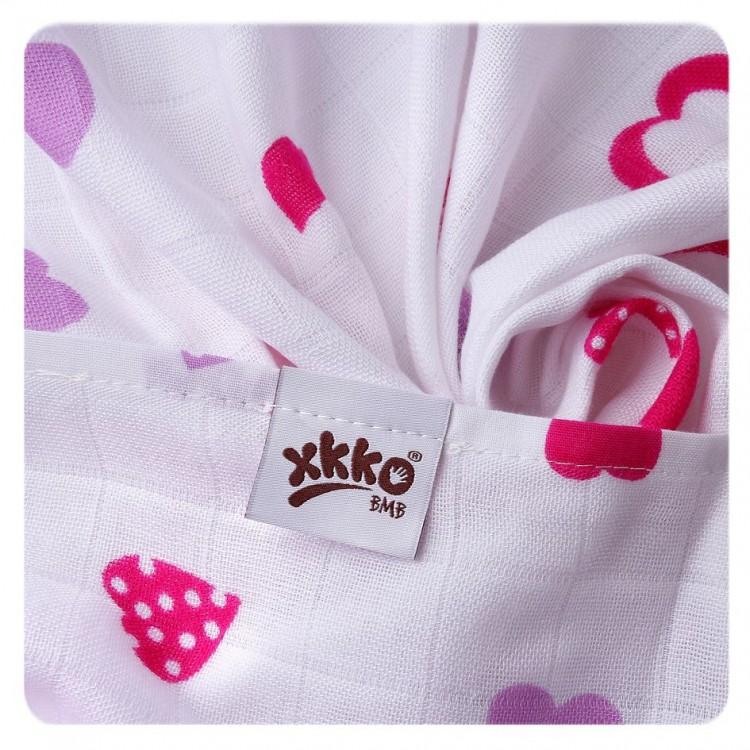 Bambusová osuška XKKO®BMB Lilac Hearts 90x100 cm