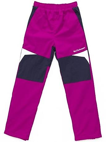 Dětské zateplené šusťákové kalhoty Wolf B2674 tmavě růžové, vel. 98