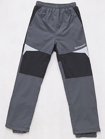 Dětské zateplené šusťákové kalhoty Wolf B2674 šedé, vel. 116