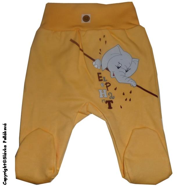 Kojenecké polodupačky Malewo Sloník žluté, vel. 62