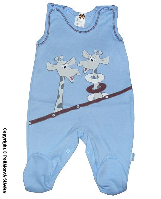 Kojenecké dupačky Malewo Žirafky modré, vel. 56