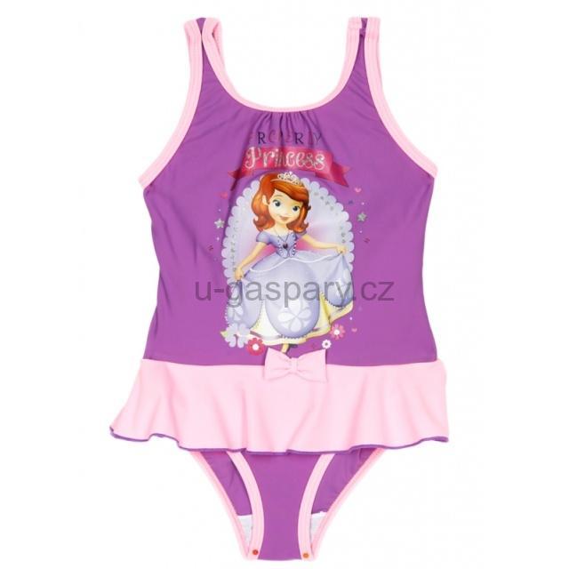 Dětské dívčí jednodílné plavky Sun City Princezna Sofie 1871 fialové 6 let