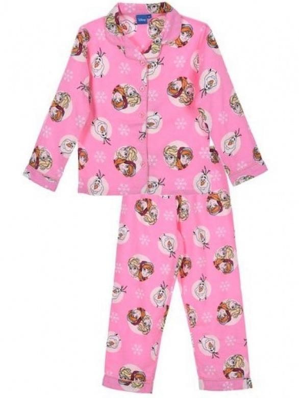 Dětské dívčí flanelové pyžamo Ledové království PH2270 růžové 4 roky