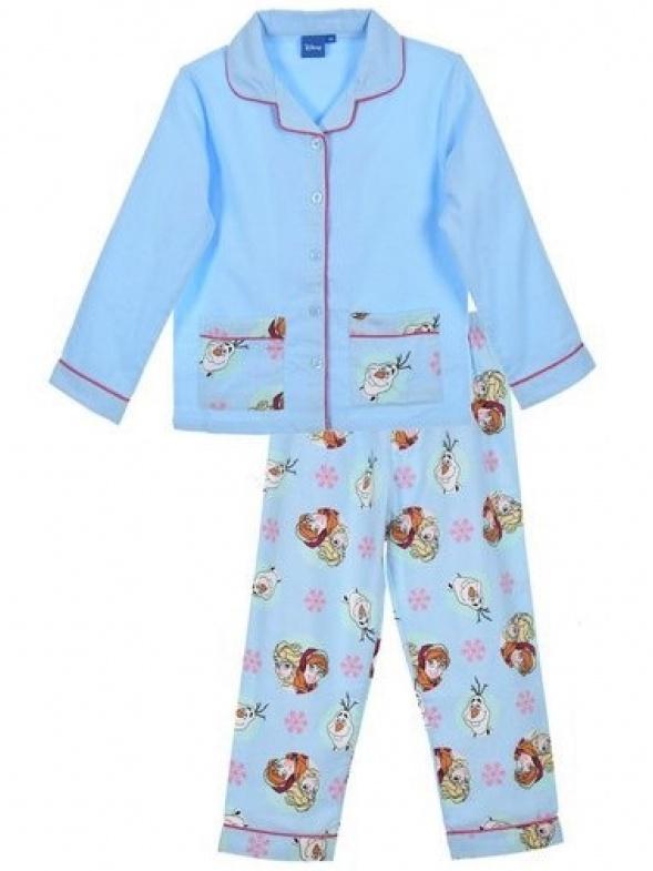 Dětské dívčí flanelové pyžamo Ledové království PH2270 modré 8 let