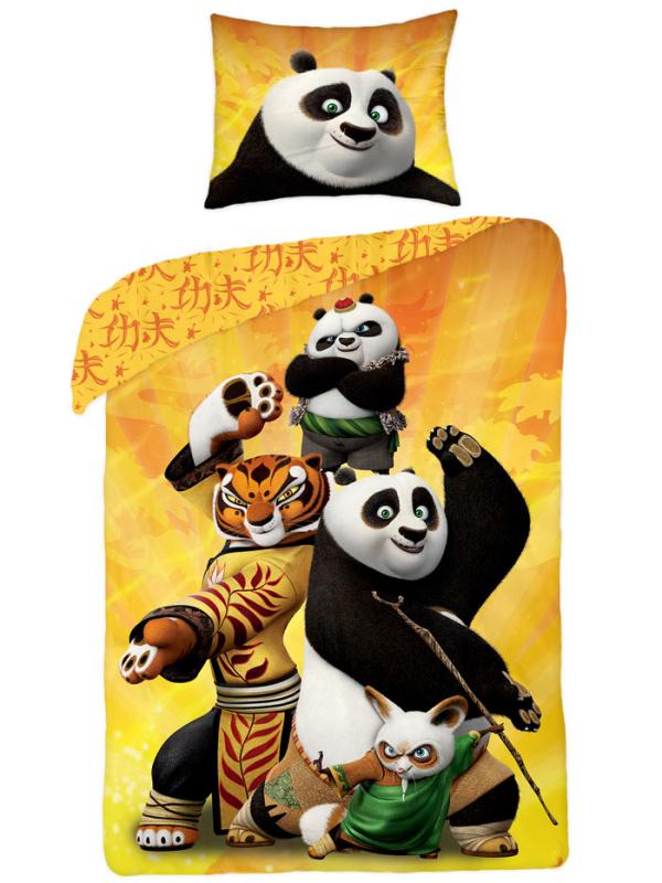 Halantex Dětské povlečení Kung Fu Panda bavlna 140x200 + 70x90 cm