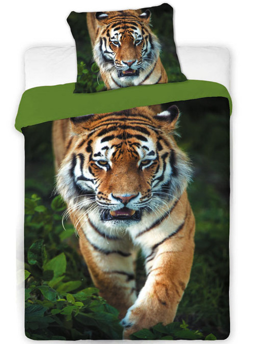 Jerry fabrics Povlečení Tygr 2016 bavlna 140x200 + 70x90 cm