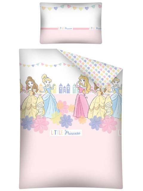 Halantex Povlečení do postýlky Princezny srdíčka bavlna 100x135 + 40x60 cm