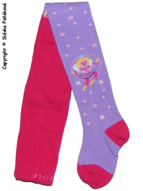 Dětské dívčí punčocháče Wolf P2521 Růžovo-fialové 128/134
