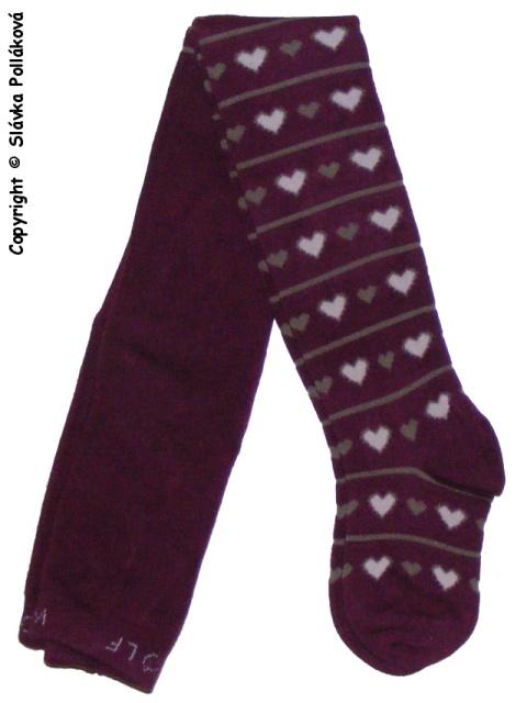 Dětské dívčí punčocháče Wolf P2521 Tmavě fialové 104/110