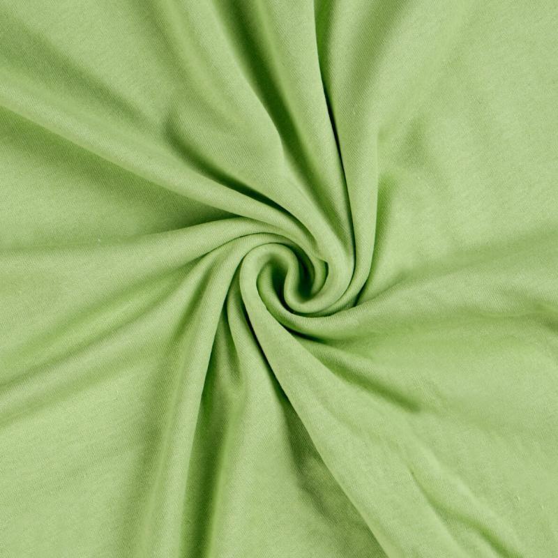 Brotex Písek Jerzey prostěradlo 120x200 cm, světle zelené