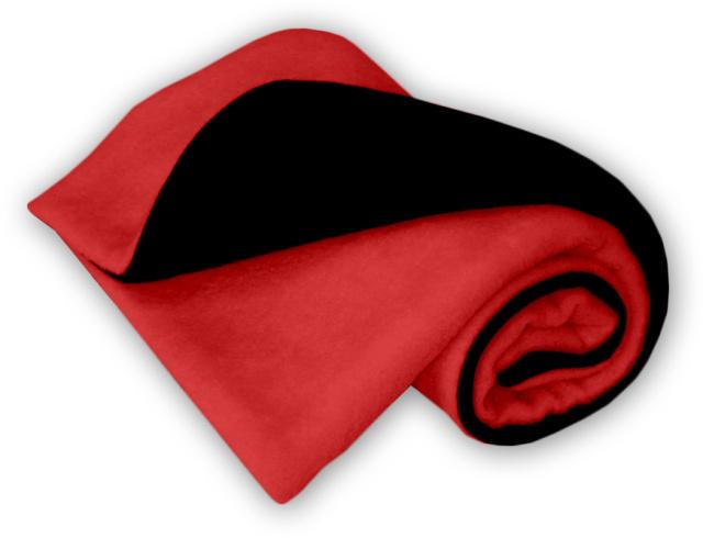 IvemaBaby Deka do kočárku fleecová oboustranná černá/červená