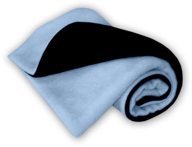 IvemaBaby Deka do kočárku fleecová oboustranná černá/světle modrá
