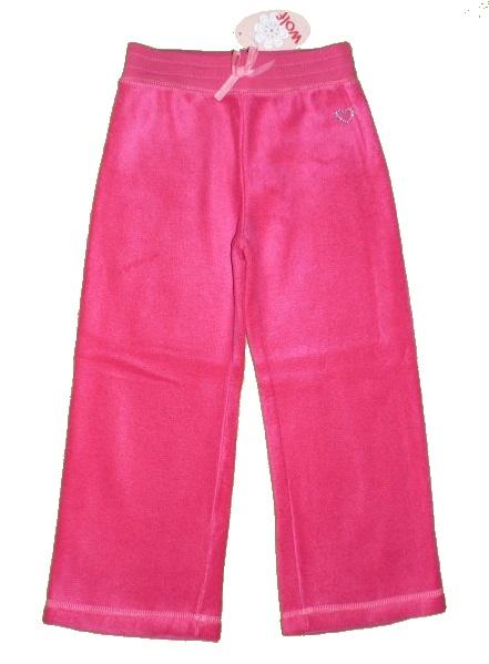 Dětské dívčí fleecové tepláky Wolf B2294 růžové, vel. 122