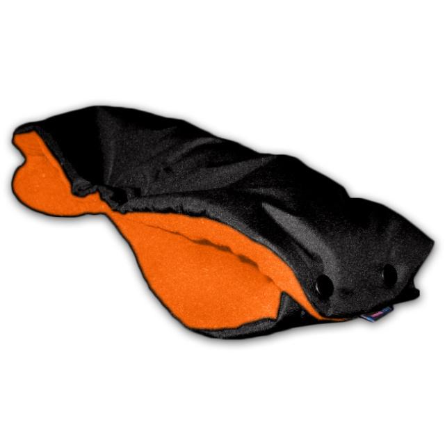 IvemaBaby Rukávník na kočárek černá / oranžová