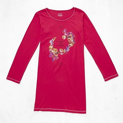Dívčí noční košile dlouhý rukáv Wolf S2659 jahodová, vel. 152