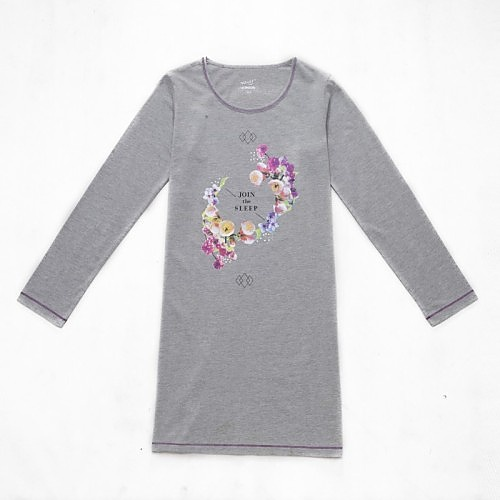 Dívčí noční košile dlouhý rukáv Wolf S2659 šedá, vel. 164