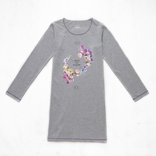 Dívčí noční košile dlouhý rukáv Wolf S2659 šedá, vel. 152