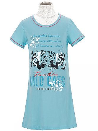 Dětská dívčí noční košile Wolf S2658 modrá, vel. 134