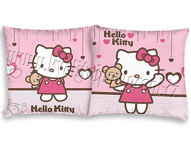 Herding Povlak na polštářek Hello Kitty Teddy bavlna 40x40 cm