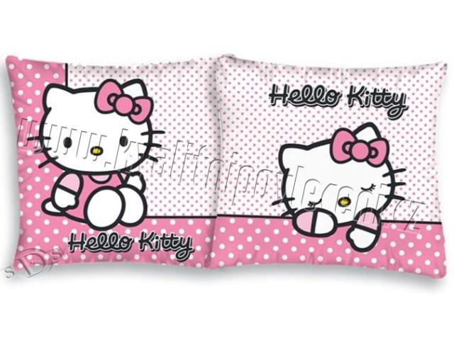 Herding Povlak na polštářek Hello Kitty růžová bavlna 40x40 cm