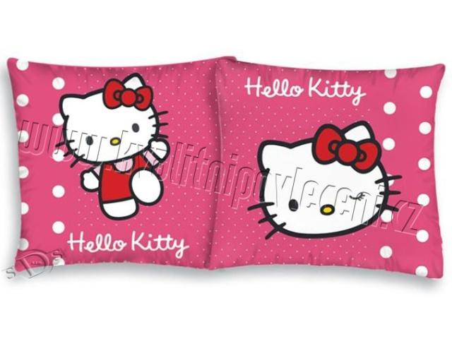 Herding Povlak na polštářek Hello Kitty puntíky bavlna 40x40 cm