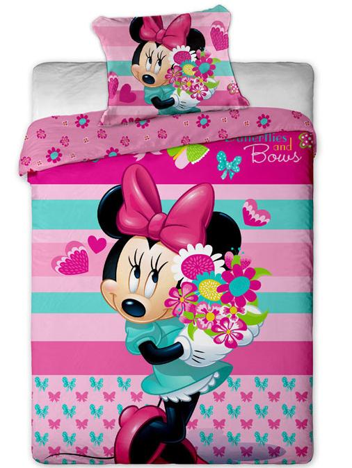 Jerry Fabrics Povlečení Minnie flower bavlna 140x200 + 70x90 cm
