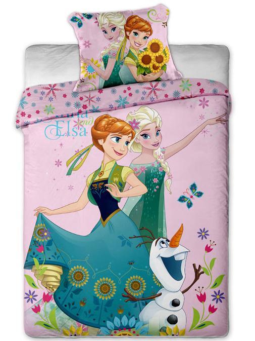 Jerry Fabrics Povlečení Ledové Království sweet pink bavlna 140x200 + 70x90 cm