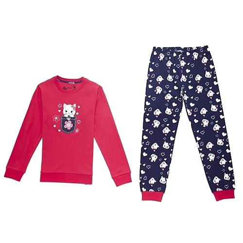 Dětské dívčí pyžamo Wolf S2669 červené, vel. 128