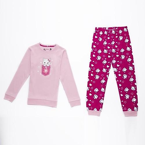 Dětské dívčí pyžamo Wolf S2669 světle růžové, vel. 128