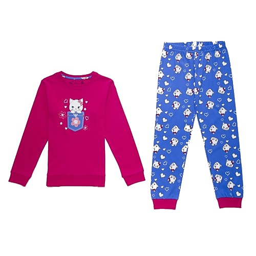 Dětské dívčí pyžamo Wolf S2669 tmavě růžové, vel. 116