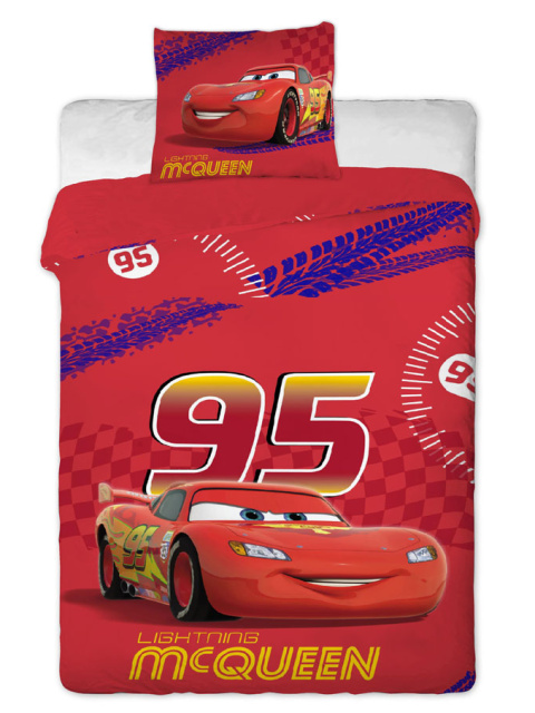 Jerry fabrics Povlečení Cars Mc Queen bavlna 140x200 + 70x90 cm