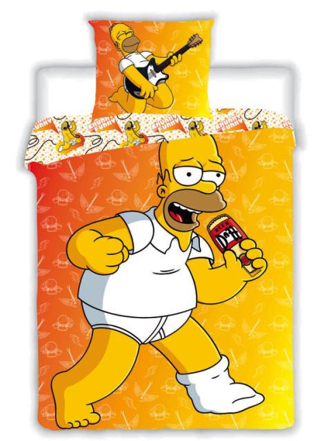 Jerry Fabrics Povlečení Homer Simpson 2015 žlutý bavlna 140x200 + 70x90 cm