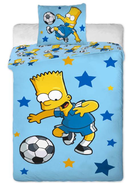 Jerry Fabrics Povlečení Bart fotbal blue bavlna 140x200 + 70x90 cm