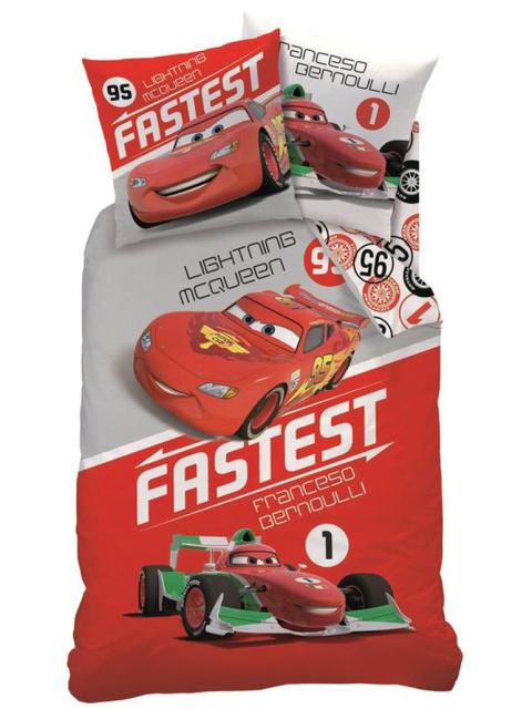 CTI Povlečení Cars Fastest bavlna 140x200 + 70x90 cm